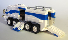Armadillo Modular APC 002 (OrangeKNight) Tags: gun sam control lego wheels transport machine 8 canadian cargo double arctic vehicle missile division apc armored turret command carrier radar communications personel mechanized antiair
