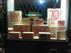 Boxing Day Shop Window... Full of Boxes - Bloor Street West The Annex Toronto Ontario Canada Saturday Night December 24 2011 - 006 (HiMY SYeD / photopia) Tags: toronto ontario canada night sale boxingday saturday theannex 40 20 70 60 70off bloorstreetwest 20off 40off twodaysonly december242011 boxingdayshopwindow fullofboxes