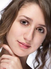 (kissrichi) Tags: girl face canon hair eos is eyes hungary indoor whitebackground studioshot usm dslr 28135mm disd 60d