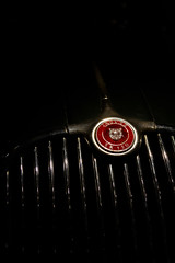 The Jag (Marcin Nurek) Tags: light shadow macro car museum canon sigma 150 badge 7d jag jaguar coventry marcin xk150 xk nurek 1770mm canon7d nurkov