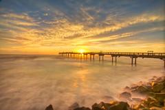 "FL01-1 (""JT"" Taylor) Tags: ocean longexposure sky beach clouds sunrise canon pier rocks waves florida atlantic fl staugustine 5dmarkii"