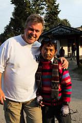 Bernie & Monkey (SamHawleywood) Tags: travel bridge nepal yak people india mountains color colour nature smile smiling trek river fun temple colorful faces bright spirit walk smiles buddhism tajmahal hike glacier adventure temples lama kathmandu colourful himalaya henn
