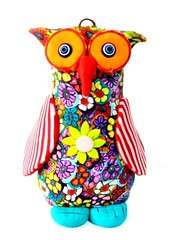owl (**mira pinki krispil-colors of life ***) Tags: sculpture art animal cat handmade fimo clay pinki polymer        mirakris