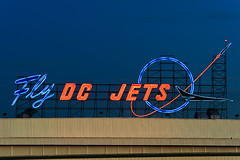 Fly DC Jets (Viajante) Tags: california sign us neon unitedstates jet longbeach rocket douglasaircraftcompany