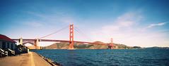 Closing the Gate (Leighton Wallis) Tags: sanfrancisco california birthday ca usa bay unitedstatesofamerica goldengatebridge fortpoint suspensionbridge marinheadlands internationalorange 75thanniversary ggnpc11