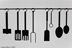 Tool Board (Semmick Photo) Tags: stilllife white abstract black art utensils kitchen lines closeup clamp object fork spoon eindhoven tools minimal simplicity outline minimalism spatula kitchenutensils bubo bubobubo strijps toolboard strijpcs semmickphoto semmick wwwsemmickphotocom