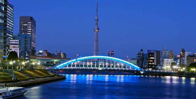 Tokyo Skytree and Eitaibashi