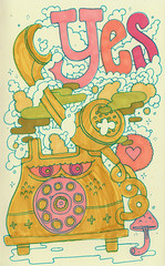 yes (jeremy pettis) Tags: 3 chicago mushroom wet hearts telly phone yes smoke angry tele dust calls dank positivity doodleday jeremypettis