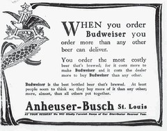 1910 sep 15 Anheuser-Bush St. Louis--- When you order Budweiser . . . (carlylehold) Tags: street robert beer saint st century vintage advertising 1 louis near c ab it bier budweiser conrad 20th 19th lager busch prohibition adv keeper anheuser misleading zythum anheuserbusch haefner conrads carlylehold anheusers zythepsary