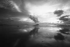 IMG_1895_black and white (achem74) Tags: trip travel sea sky blackandwhite bw seascape beach clouds canon eos places malaysia seashore cloudscape kuantan pahang balok canoneos550d eos550d rebelt2i kissx4