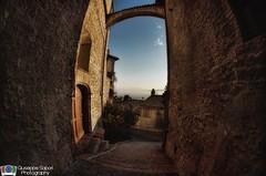 The sky window (Giuseppe Sapori) Tags: light sunset shadow panorama landscape high nikon dynamic fisheye range hdr assisi
