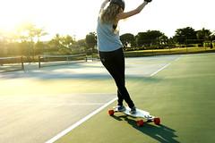 Dance (Izzy Guttuso) Tags: girl dance dancing skating skate longboard skater dervish loaded tenniscourt longboarding longboarder longboad loadeddervish