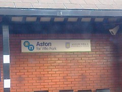 Aston Station for Villa Park - Aston Villa Football Club (ell brown) Tags: greatbritain england sign mobile nokia birmingham unitedkingdom shelter mobileshots waitingroom westmidlands aston astonvilla astonvillafc avfc networkwestmidlands astonvillafootballclub crosscityline astonstation nokiax302 networkwestmidlandssign astonforvillapark
