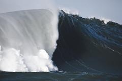 Mavericks Left Barrel (coastalcreature) Tags: ocean california surf wave surfing halfmoonbay swell mavericks bigwaves