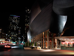 Disney Music Hall HDR (Foto-Mike) Tags: california architecture night canon lens eos la hall los concert long exposure downtown angeles head tripod disney southern mm dslr 1785 walt manfrotto 50d 055xprob 808rc4