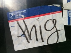 THIG (billy craven) Tags: chicago graffiti sticker sharkula thig slaptag