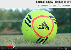 Football is how I learned to live ( HD ) (Sara Al-Ateeq) Tags: white green love 50mm riyadh 2012 abdullah  500d canon500d    alateeq