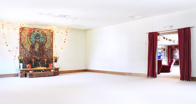 empty shrine room
