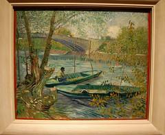 Vincent van Gogh (Dutch, 1853-1890) Fishing in Spring, the Pont de Clichy (Asnires), 1887 (UGArdener) Tags: chicago impressionism artinstituteofchicago museums arthistory frenchimpressionism