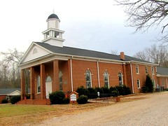 Bullock Baptist Church 1 (Universal Pops (David)) Tags: door building brick tower church architecture vent wooden bullock platform northcarolina structure spire belfry baptist posts ecclesiastical neoclassical swelling transom rectangular widening octagonal granvillecounty pedimentedgable