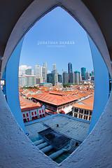 City Eye (draken413o) Tags: city eye lens interesting singapore chinatown cityscape creative corridor fisheye hdb