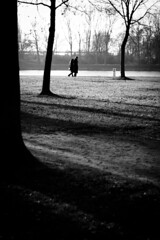 2 (ben0son - www.ben0son.com -) Tags: blackandwhite bw tree germany couple noiretblanc promenade arbre parc dimanche kehl rhin