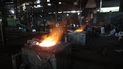 Sonali Casting's - 01 (Rajesh_India) Tags: india metal foundry melting iron menatwork workshop hyderabad pour casting molten