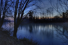 Down by the River (Daniel J. Mueller) Tags: tree night river hdr reuss 7xp d3s mygearandme mygearandmepremium mygearandmebronze mygearandmesilver mygearandmegold mygearandmeplatinum mygearandmediamond