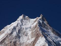 Twin Peaks-Mount Manaslu-Manaslu Circuit Trek-Nepal (mikemellinger) Tags: nepal snow mountains ice nature beauty up closeup trekking trek scenery close hiking twin peak hike glacier hills mount round glaciers peaks himalayas 8th highest manaslucircuit