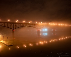 Foggy Night, Gay Street Bridge (John C. House) Tags: water fog night reflections nikon knoxville tennessee nik everydaymiracles d700 johnchouse