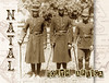 Policemen in Natal, South Africa Postcard (HTMimages) Tags: africa men feet natal vintage foot uniform cops african bare postcard military coat south police security weapon stick policemen barefooted reprint