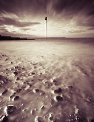 Life on Mars! (lukemedway_uk) Tags: longexposure seascape beach warning canon bay kent harbour luke pebbles filter lee groyne hammond whitstable 1022mm splittone 550d 10stop 10nd bigstopper lukemedwayuk groynepost