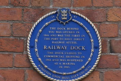 Photo of Railway Dock blue plaque