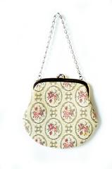 Vintage Tapestry Bag in Cream with Floral Design (KelliOliver) Tags: vintage etsy vintagepurse vintagetapestrybag vintagecarpetbag vintagesoup