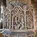 Carved pillar inside Sabha Mandap at Modhera