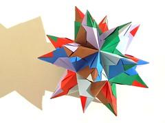 Tornillo (Aneta_a) Tags: origami spike tornillo origmai modularorigami kusudama bascetta paolobascetta icosahedralsymmetry