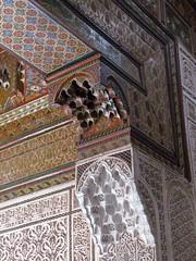 Detail of the fine craftmenship. (Linda DV) Tags: africa travel canon geotagged morocco maroc atlas marrakech marrakesh highatlas 2011 bahiapalace almarib  lindadevolder  powershotsx30 ochrecity