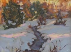 Winter Acequia   6 x 8