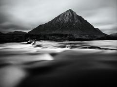 LONG EXPOSED (kenny barker) Tags: kennybarker lumix scotland panasonicg1 winter landscape mountains monochrome water buachailleetivemòr etive longexposure wlcomeuk bw blur daarklands