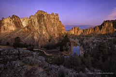 Dawn at Smith Rock, Oregon (chasingthelight10) Tags: usa nature oregon photography dawn volcano landscapes bend events places rivers volcanoes vistas sunrises rockclimbing smithrock crookedriver rockformations terrebonne smithrockstatepark volcaniceruption
