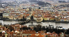 Prague skyline (The Globetrotting photographer) Tags: street old city winter urban skyline europe republic czech prague prag praha praga   2011