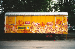 KACAO 1996 (KACAO77 UNIVERSES) Tags: color berlin art colors wall writing germany word graffiti photo artwork neon artist space name letters 1996 style spray camouflage letter writer sciencefiction spraypaint write trailer outline piece 77 wallpainting 1990s 90s spraycan galactic 96 kakao seventyseven rtz kacao77 constructiontrailer kacao returntozero kakao77 kacaoe kacao77universes kacaoe77 kakaoe77 returntozerocrew rtzrtzcrew