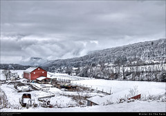 Winter On The Farm (Cash Valley Photography & Imaging) Tags: county winter snow ice clouds rural cows farm country maryland february curve hdr lavale allegany greatalleghenypassage helmstetters cashvalleyroad