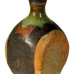 "<b>Bottle</b><br/> Marguerite Wildenhain (1896-1985) ""Bottle"" Ceramic, ca. 1960's LFAC #2002:04:01<a href=""http://farm8.static.flickr.com/7035/6831796717_5887a708d0_o.jpg"" title=""High res"">∝</a>"