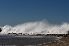 Monster waves break over the north breakwater