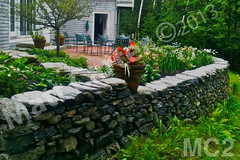WM Matt Carter 2, Retaining Wall, dry laid stone construction, copyright 2014