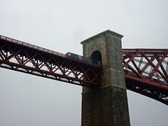 Train passes over the Forth Bridge (neuphin) Tags: bridge scotland north rail railway forth firth queensferry