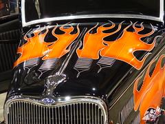 'The California Kid' (bballchico) Tags: ford paint flames flame hotrod chopped custom portlandoregon 1933 kustom 2014 portlandroadstershow thecaliforniakid