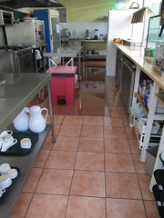 Flooded kitchen (wallygrom) Tags: england rain westsussex floods angmering manornursery manornurseries april2014