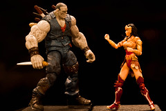 Solomon Grundy vs Wonder Woman (atari_warlord) Tags: actionfigure wonderwoman knives dccomics injustice solomongrundy 375 dcuniverse dcdirect